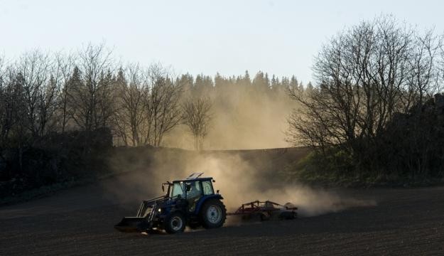 DSC01990 Vårharvning kring åkerholmar - Ölmstad Småland v2ss - foto KP Hasund
